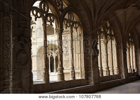Arched Window Of Jeronimos Monastery
