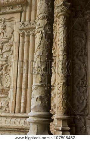Tracery Columns In Jeronimos Monastery