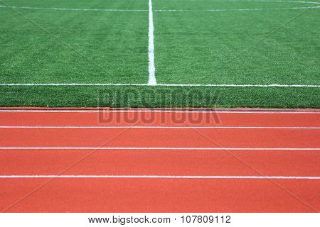 Soccer Green Field Artificial Grass With White Lines