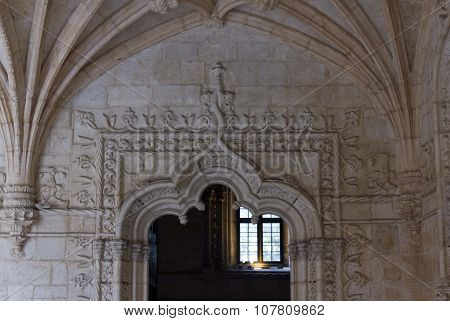 Doorway In The Jeronimos Monastery