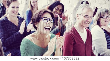 Audience Applaud Clapping Happine?s Appreciation Training Concept