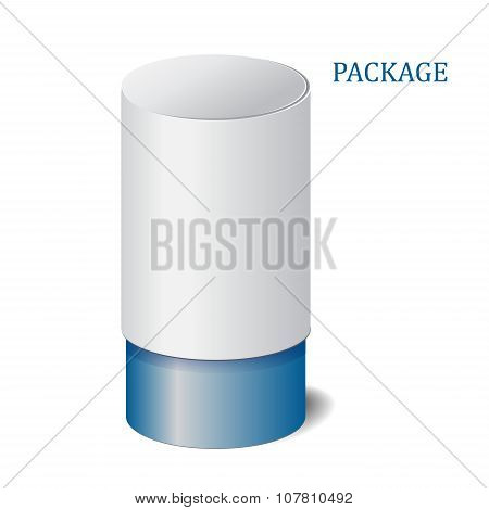 Cardboard Package Isolated Box On The White Background. Mock Up, Template. Stock Vector