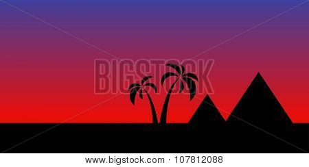 egypt night landscape