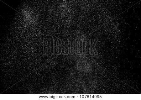 abstract splashes of water on a black background.