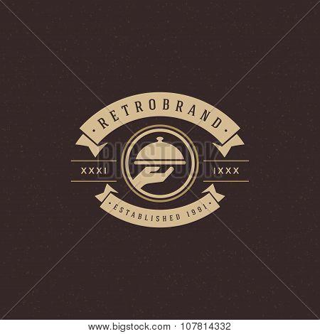 Restaurant Cloche Design Element in Vintage Style