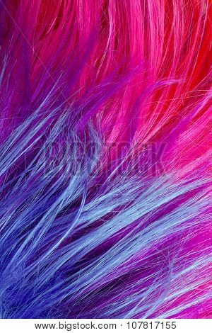 colorful artificial hair