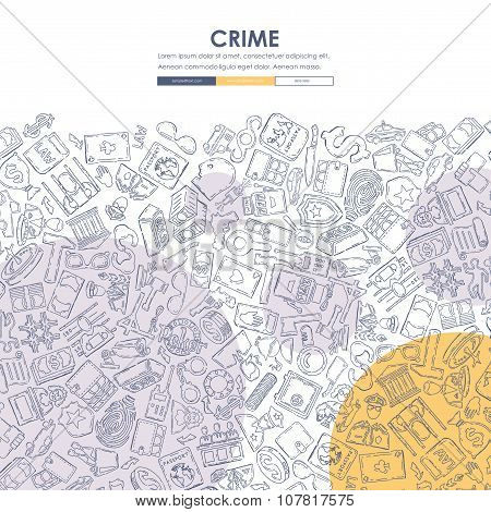 crime Doodle Website Template Design