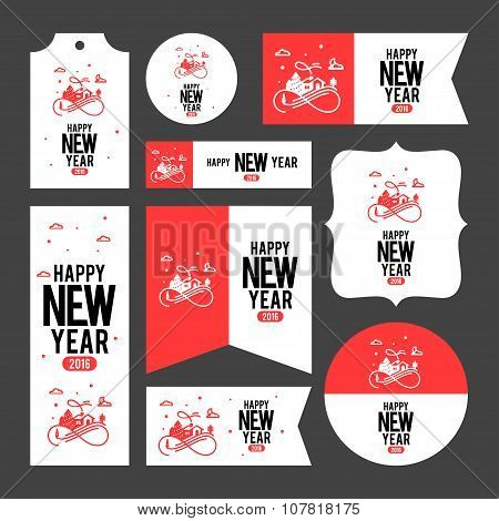 Collection Of New Year 2016 Cards