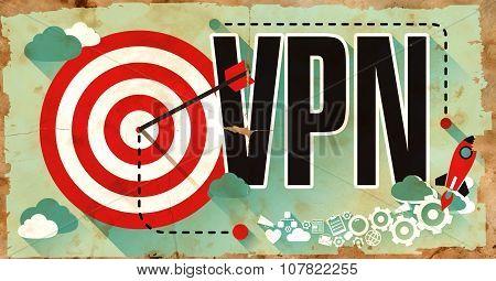 VPN on Grunge Poster.