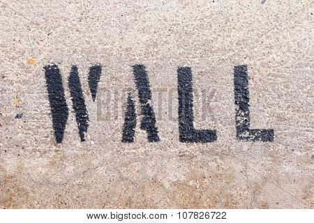 wall letters on the marble wall texture