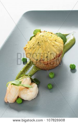 plated mini fish pie