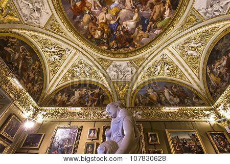 Interiors Of Palazzo Pitti, Florence, Italy