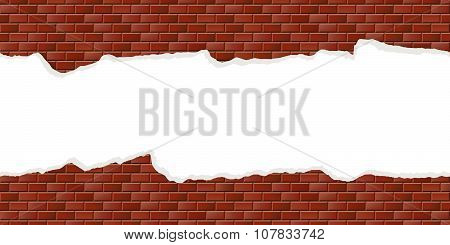 Wall Background With Broken Plaster Seamless