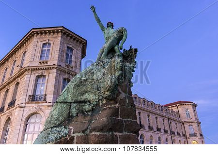 Monument Near The Palace Of Pharo In Marseilles In France