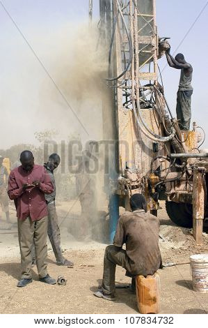 Drilling Of A Well In Burkina Faso