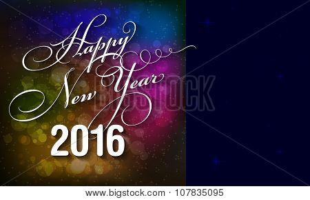Happy New Year 2016 Card