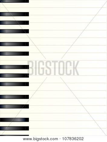 Piano Key Background
