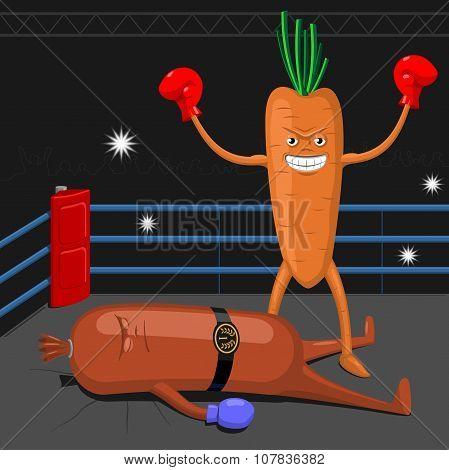 Carrot Winning Sausage.