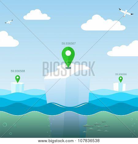 Geo Coordinates At Sea.