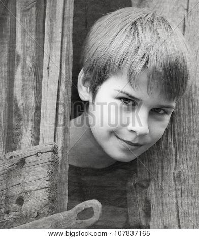 portrait of a cute boy