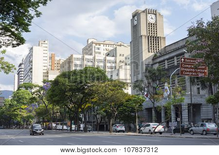 Afonso Pena Avenue In Downtown Belo Horizonte