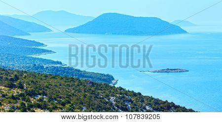 Morning Misty Summer Sea Panorama (croatia)