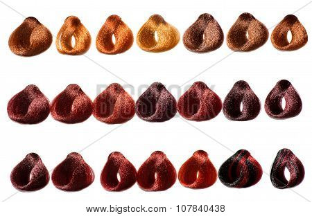 Color Chart Of Swatches Of Hair In A Salon