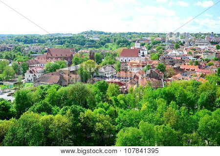 View From Gediminas Castle To The Old Vilnius