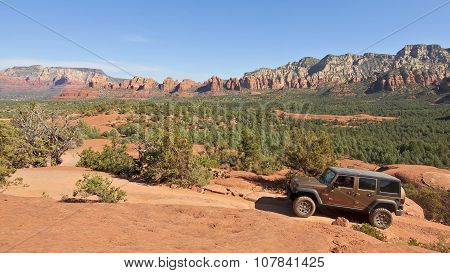 A Rubicon Four Wheeler In Sedona, Arizona