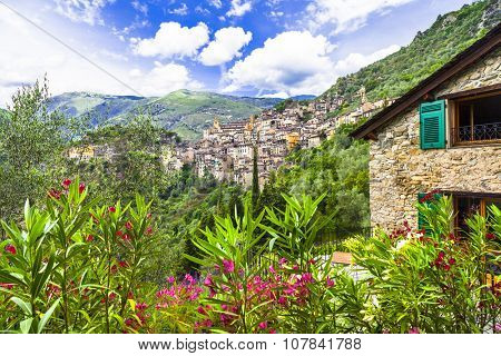 beautiful mountain villages - Saorge (border France-Italy)