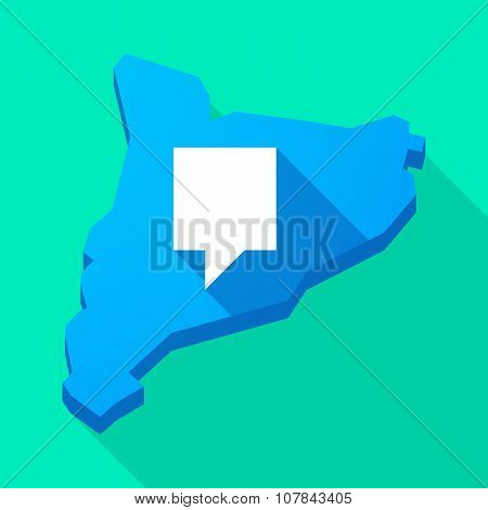 Catalonia Long Shadow Vector Icon Map With A Tooltip