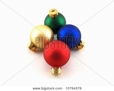 Colored Glass Christmas Ornaments