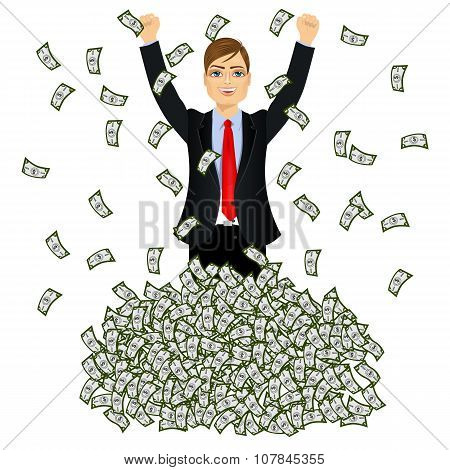 happy rich successful businessman