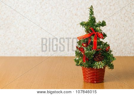 Christmas Tree On The Table