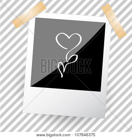 flower. Photoframe. Vector icon.