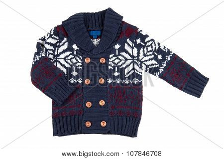 Children Warm Vest (sweater), Isolated On White