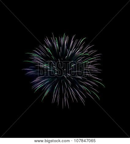 Green fireworks, Fireworks explode, fireworks background, texture. Beautiful fireworks, light show