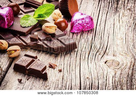 Assortment Of Fine Chocolates And Pralines