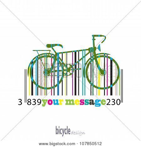 Bike Of The Colored Stripes Barcode
