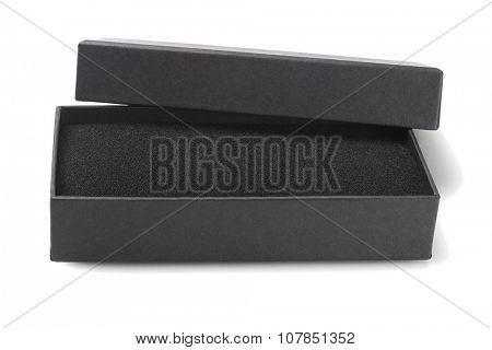 Open Gift Box With Sponge Foam on White Background