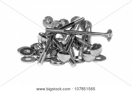 A Handful Of The Mounting Bolts And Washers