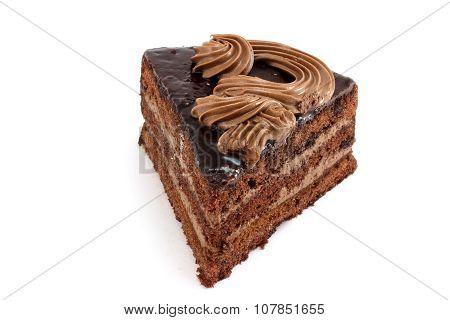 Triangular Piece Of Chocolate Cake