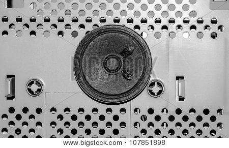 The Loudspeaker On The Metal Plate