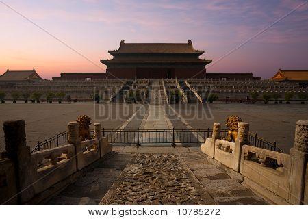 Forbidden City Palace Supreme Harmony Sunrise
