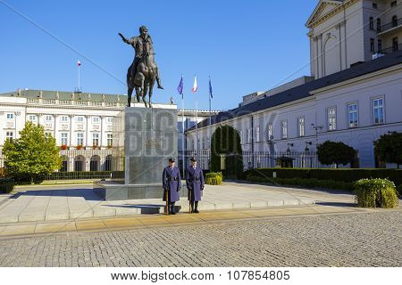 An Honor Guard At The Monument, Warsaw