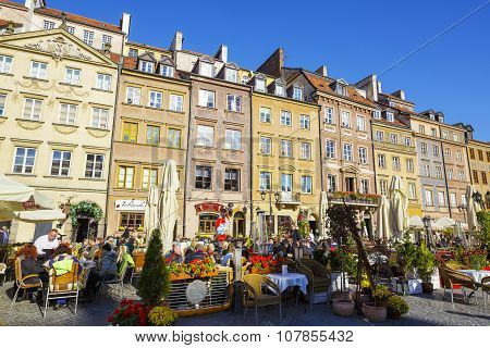 Warsaw, Townhouses In The Old Town Square