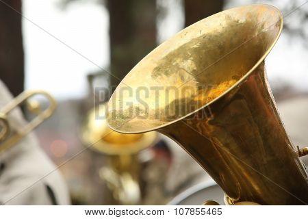 Large Copper Tuba