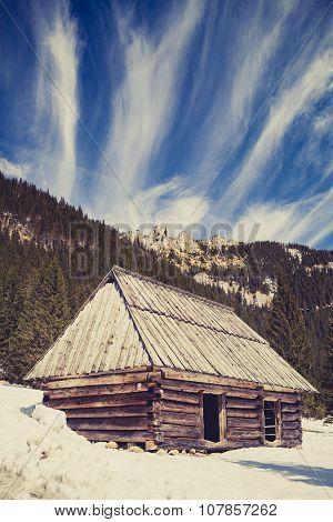 Mountains Inspirational Winter Landscape, Tatras