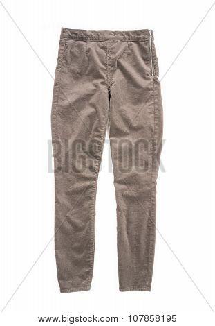 Velvet Pants Isolated on White