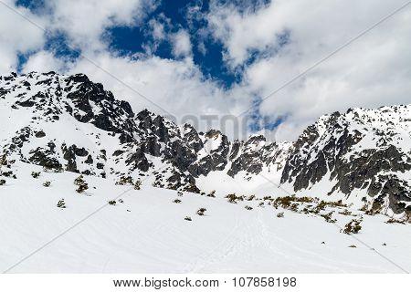 Mountains Beautiful Inspirational Winter Landscape, Tatras